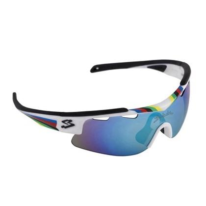 Óculos Spiuk Arqus Lente Azul Espelhada Armação Branca WCH
