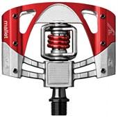 Pedal MTB Crank Brothers Mallet 3 Prata e Vermelho