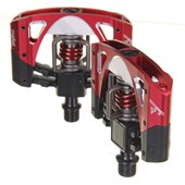Pedal MTB Crank Brothers Novo Mallet 3 Preto e Vermelho