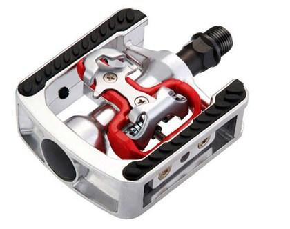 Pedal MTB Wellgo Clip e Plataforma Alumínio Cromado