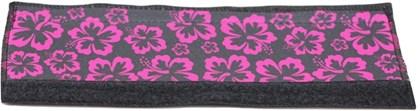 Protetor de Quadro Floral em Neoprene Preto Rosa - P