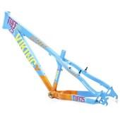 Quadro de Bike Freeride Alumínio Viking X Dirt Jump Tuff X25 Azul e Laranja aro 26