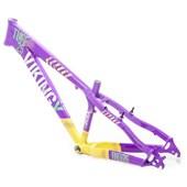 Quadro de Bike Freeride Alumínio Viking X Dirt Jump Tuff X25 Roxo e Amarelo aro 26