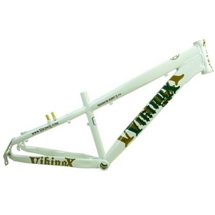 """Quadro de Bike Freeride Alumínio Viking X Warrior Aero X29 aro 26"""" Branco"""
