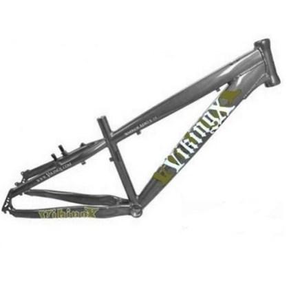 """Quadro de Bike Freeride Alumínio Viking X Warrior Aero X29 aro 26"""" Cinza"""