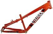 """Quadro de Bike Freeride Alumínio Viking X Warrior Aero X29 aro 26"""" Laranja"""