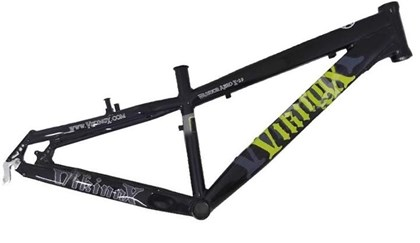 "Quadro de Bike Freeride Alumínio Viking X Warrior Aero X29 aro 26"" Preto"