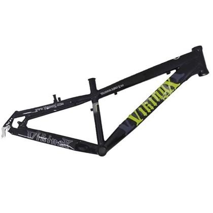 """Quadro de Bike Freeride Alumínio Viking X Warrior Aero X29 aro 26"""" Preto"""