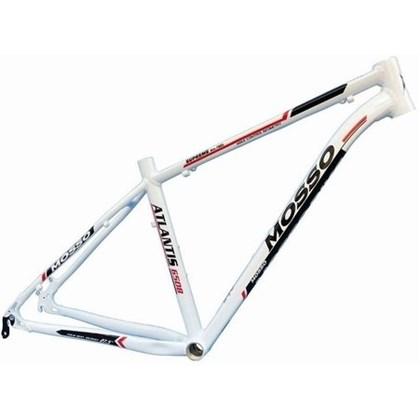 """Quadro de Bike MTB Alumínio Mosso Atlantis aro 27,5"""" Branco e Preto"""