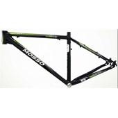 """Quadro de Bike MTB Alumínio Mosso Odyssey aro 29"""" Preto Verde"""