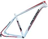 "Quadro de Bike MTB Alumínio Mosso Rampage aro 29"" Branco Vermelho"