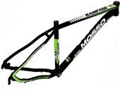 """Quadro de Bike MTB Alumínio Mosso Rampage aro 29"""" Preto e Verde"""