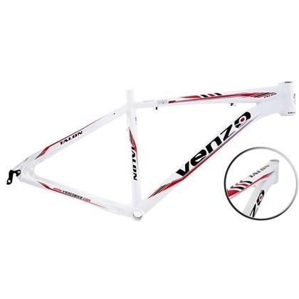"""Quadro de Bike MTB Alumínio Venzo Talon aro 29"""" Branco Vermelho"""