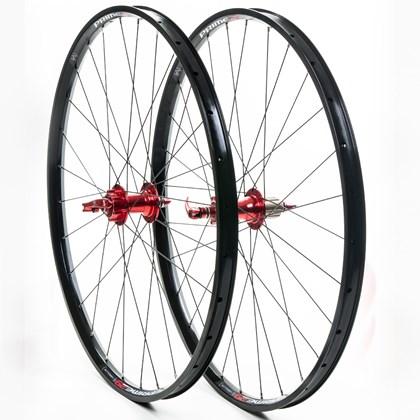 "Roda Bike MTB Absolute Prime Aro 29"" Preta e Vermelha"