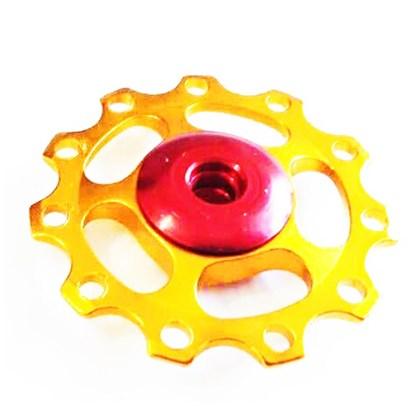 Roldana Câmbio Bike WG Sports Alumínio 8 9 e 10v Dourada