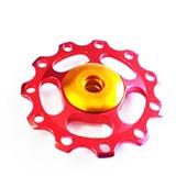 Roldana Câmbio Bike WG Sports Alumínio 8 9 e 10v Vermelha