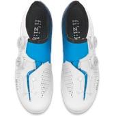 Sapatilha Ciclismo Fizik R1 Infinito Edição Movistar Branca e Azul