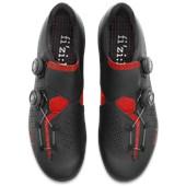 Sapatilha Ciclismo Fizik R1 Infinito Preta e Vermelha