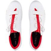 Sapatilha Ciclismo Fizik Tempo R5 Overcurve Branca e Vermelha