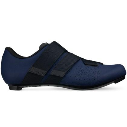 Sapatilha Ciclismo Fizik Tempo R5 Powerstrap Azul Escura e Preta