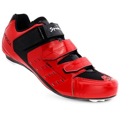 Sapatilha Ciclismo Spiuk Rodda Vermelha e Preta