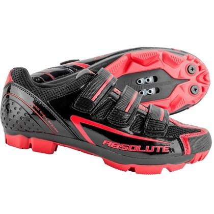 447c1d0321b Sapatilha MTB Absolute Nero Preta e Vermelha - Bike Plus