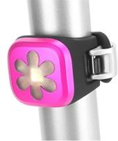 Sinalizador Bike Traseiro Knog Blinder 1 Flores Rosa