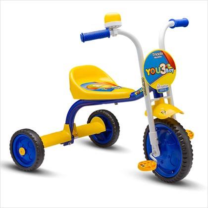 Triciclo Infantil Nathor You 3 Boy Azul e Amarelo
